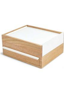Porta Joias Caixa Organizadora Stowit Natural Branco Umbra