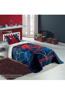 Edredom Spider Man® Solteiro- Azul Marinho & Vermelho