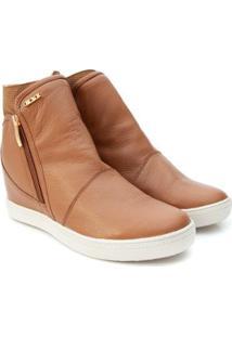 Sneaker Orcade Em Couro - Feminino-Caramelo