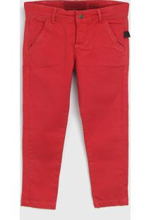 Calça Sarja Ellus Kids Infantil Color Vermelha
