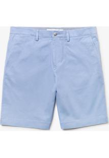 Bermuda Lacoste Regular Fit Azul