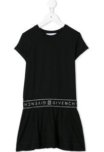 Givenchy Kids Vestido De Tricô Com Logo - Preto