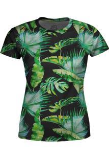 Camiseta Estampada Baby Look Over Fame Verde