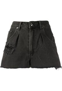 Iro Short Jeans Destroyed - Preto