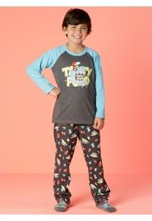 Pijama Infantil Puket Tubarão - Masculino