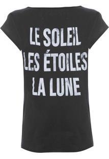 Camiseta Feminina Pecan - Preto