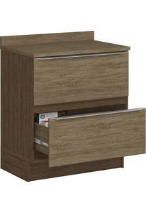 Armário De Cozinha 2 Gavetas Sem Pé 4032R Cedro/Wood - Decibal Móveis