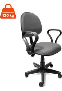 Cadeira De Escritório Secretária Mazikeen Ajustável Cinza