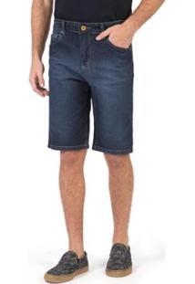 Bermuda Jeans Taco Flex Stone Masculino - Masculino-Azul