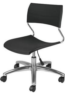 Cadeira Nina Assento Preto Base Arcada Em Aluminio - 54776 - Sun House