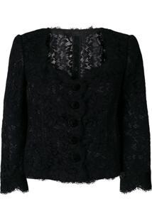Dolce & Gabbana Blazer De Renda - Preto