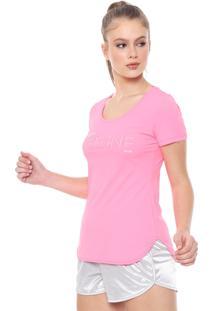 Camiseta Alto Giro Inspiracional Neon Rosa