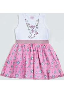 Vestido Infantil Tule Marie Disney