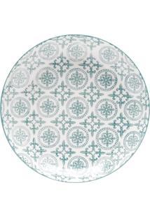 Prato Para Sobremesa Em Porcelana - Linha Royal - ø 19 Cm - Sortido - Verde - Dafiti