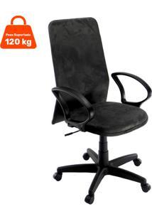 Cadeira De Escritório Diretor Cora Suede Preta