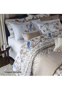 Sultan Conjunto De Cobre-Leito Paradise Queen Size Marrom Claro & Azul