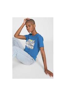 Camiseta Element Penuts Camper Azul