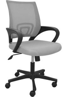 Cadeira De Escritório Secretária Office Santiago Cinza