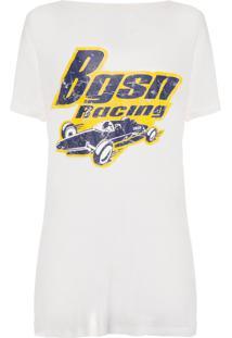 Camiseta Feminina Mango - Branco