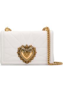 Dolce & Gabbana Bolsa Tiracolo Devotion Média - Branco