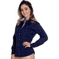 Camisa Pimenta Rosada Navy - Feminino-Marinho 174867e8b0fdc