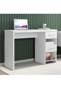 Mesa Para Computador 2 Gavetas Duna New Branco - Móveis Germai