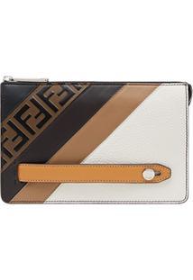 f965b0a48 Fendi Slim Monogram Clutch Bag - Branco