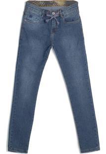 Calça Jeans Infantil Gangster Azul - 12