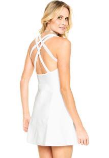 Vestido Calvin Klein Jeans Curto Alças Branco