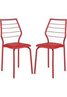 Cadeira 1716 02 Unidades Vermelha Carraro