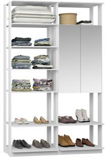 Closet 2 Portas Espelhadas 9012 Branco - Bentec