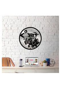 Escultura De Parede Wevans Mandala Bird + Espelho Decorativo Único