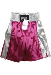 Bermuda De Boxe Pink Com Prata Ef10107A Everlast - Gg - Feminino-Rosa