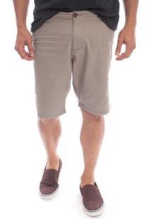 Bermuda Sarja Aleatory Flash Masculino - Masculino-Cinza