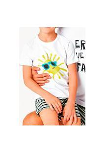 Pijama Infantil Menino Curto Malwee 1000083403 Branco