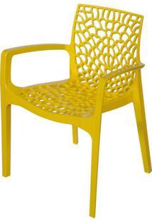 Cadeira Gruver Com Braco Polipropileno Amarelo - 30477 - Sun House