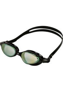 Óculos De Natação Mormaii Varuna Mirror - Adulto - Preto/Amarelo