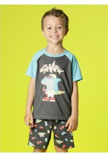 db57e7f3beab69 Pijama Infantil Puket Tubarão - Masculino