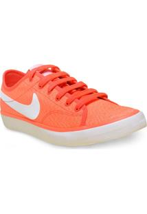 Tenis Fem Nike 820202-618 Wmns Primo Court Txt Laranja Neon