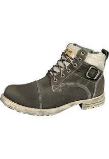 Bota Adventure Casual Couro Nobuck Bell-Boots - 830 - Chumbo