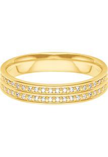 Aliança De Casamento Ouro Amarelo E Diamantes
