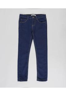 Calça Jeans Infantil Básica Azul Escuro