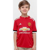 Camisa Manchester United Infantil Home 17 18 S Nº Torcedor Adidas -  Masculino a6ad536b28ba9
