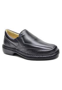 Sapato Social Masculino Couro Conforto Sola Borracha Leve Preto 36 Preto