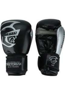 Luvas De Boxe Pretorian Elite - 10 Oz - Adulto - Preto/Cinza