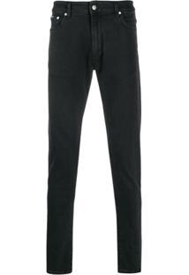 Represent Calça Jeans Skinny Cintura Média - Preto