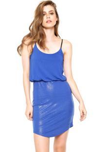 Vestido Calvin Klein Jeans Curto Azul