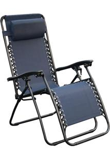 Cadeira Outdoor Equilibrium Azul Marinho Rivatti Móveis