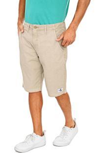 Bermuda Calvin Klein Jeans Chino Lisa Bege
