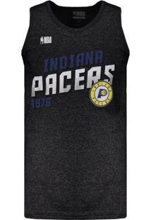 Regata Nba Indiana Pacers Especial Inox Preta Mescla